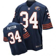 2016 Nike NFL Chicago Bears 34 Payton throwback blue jersey