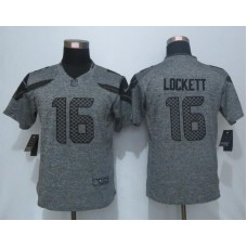 2016 Women New Nike Seattle Seahawks 16 Lockett Gray Men's Stitched Gridiron Gray Limited Jersey