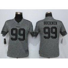 2016 Women Nike San Francisco 49ers 99 Buckner Gray Stitched Gridiron Gray Limited Jersey