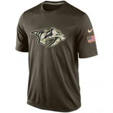 2016 Mens Nashville Predators Salute To Service Nike Dri-FIT T-Shirt