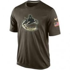 2016 Mens Vancouver Canucks Salute To Service Nike Dri-FIT T-Shirt