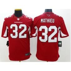 Arizona Cardicals 32 Mathieu Red Nike Limited Jerseys