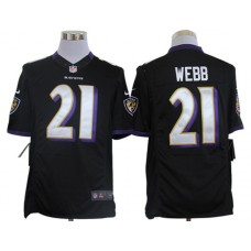 Baltimore Ravens 21 Webb Black Nike Limited Jerseys