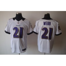Baltimore Ravens 21 Webb White Nike Elite Jerseys