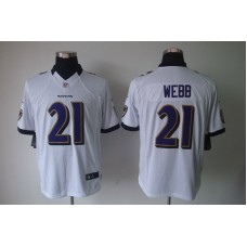 Baltimore Ravens 21 Webb White Nike Limited Jerseys