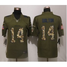 Cincinnati Bengals 14 Dalton Green Salute To Service New Nike Limited Jersey