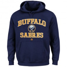 2016 NHL Buffalo Sabres Majestic Heart Soul Hoodie - Navy Blue
