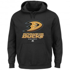2016 NHL Majestic Anaheim Ducks Critical Victory VIII Pullover Hoodie - Black