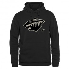 2016 NHL Men Minnesota Wild Black Rink Warrior Pullover Hoodie