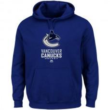 2016 NHL Vancouver Canucks Majestic Critical Victory VIII Fleece Hoodie - Blue