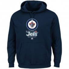2016 NHL Winnipeg Jets Majestic Critical Victory VIII Fleece Hoodie - Navy