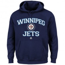 2016 NHL Winnipeg Jets Majestic Heart Soul Hoodie - Navy Blue