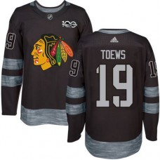 2017 Chicago Blackhawks 19 Toews black jerseys