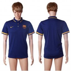 2016 Barcelona home polo shirt blue AAA+ soccer jerseys