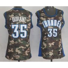 NBA Womens Oklahoma City Thunder 35 Kevin Durant Camo Jersey