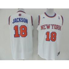 NBA New York Knicks 18 Jackson White 2014 Jerseys