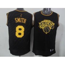 NBA New York Knicks 8 J.R. Smith Black Precious Metals Fashion Swingman