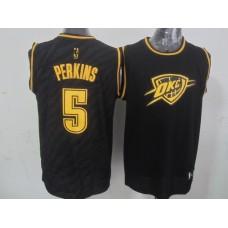 NBA Oklahoma City Thunder 5 Perkins Black Precious Metals Fashion Swingman