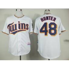 MLB Minnesota Twins 48 Torii Hunter White 2015 Home Jersey