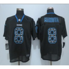 Chicago Titans 8 Mariota  Lights Out Black 2015 New Nike Elite Jerseys